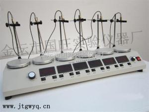 HJ-6A 数显多头磁力加热搅拌器/控温磁力加热搅拌器