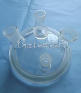 215mm五口固体加料口 玻璃五口开口反应器盖