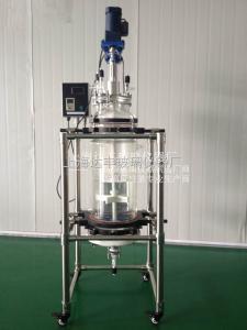 DFGX 20L固相合成反应釜 合成反应器 过滤反应釜 玻璃反应器 发酵罐