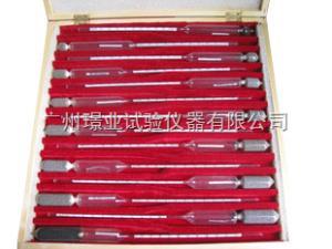 精密密度计 高精度0.001 0.600-2.000套装14支组 精装木盒