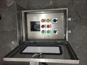 厂家生产304不锈钢防水防尘防腐控制箱FXK G带表挂式3灯3钮三防操作箱