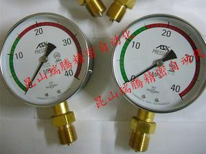 AK1/2-100x40MP-GR15 工业MRO配件ASK耐振压力表 AK-1/2-100x35MP-GR15东芝压铸机专用