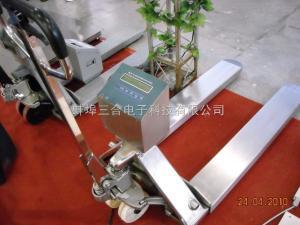 1吨不锈钢叉车秤厂家/1吨抗酸碱叉车秤