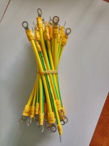 宿迁定做 批发纯铜 国标4平方30cmBVR光伏接地线 黄绿双色线