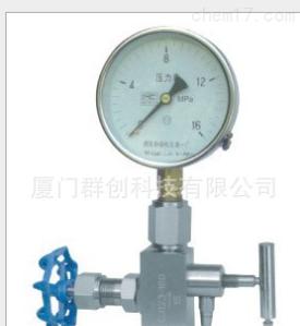 廈門QCT壓力表多功能取樣閥門(壓力表針形閥)CJ123-DN6