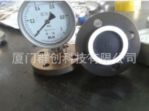 YTNP-100H 噴涂四氟防腐隔膜全不銹耐震壓力表