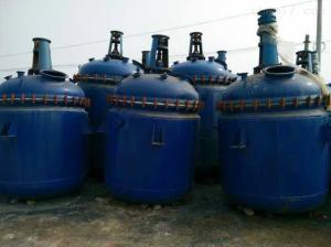 型号齐全 大量出售二手2吨搪瓷反应釜 设备九成新