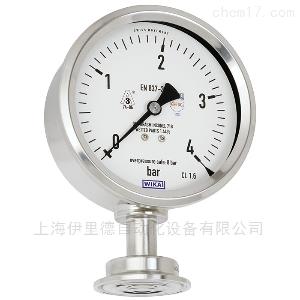 PG43SA-S 管道发酵罐生物反应器威卡平嵌隔膜式压力表