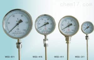 WSS-401/411 指针双金属温度表 工业锅炉管道温度计